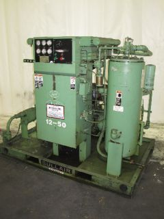 50 HP Sullair Rotary Air Compressor 12BS 50L Skid Open