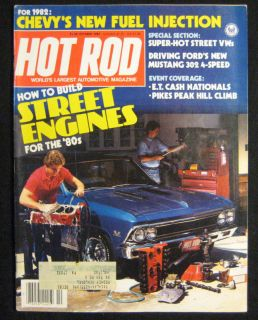 Hot Rod Magazine October 1981 302 Mustang 4 Speed