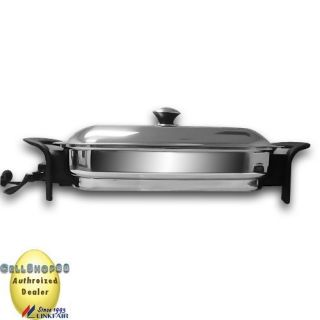 16´ x 11´ Square Electric Griddle Skillet Stainless Steel Linkfair