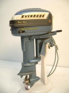 Evinrude Big Twin Electric 30 Toy Outboard Motor Runs