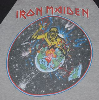 Vintage Iron Maiden World Piece Tour T Shirt 1983 M