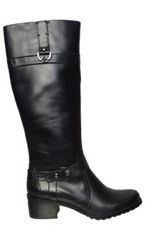 Anne Klein Womens Boots Edith Black Leather Sz 10 M