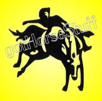 Rodeo Rider and Horse Vinyl Decal Car Truck Trailer