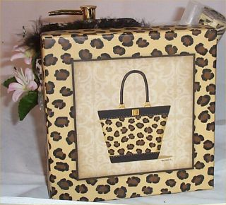 Leopard Print Gift Basket Vanilla Scented Inscents Spray Soap Pump