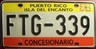 PUERTO RICO CAR DEALER AUTO LICENSE PLATE WITH SLOGAN ISLA DEL ENCANTO