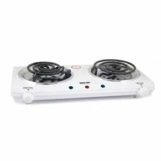Better Chef Double Electric Adjust Heat Hot Plate Countertop Dual