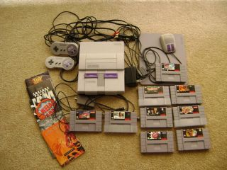 Super Nintendo Entertainment System Console Controllers Games Mouse