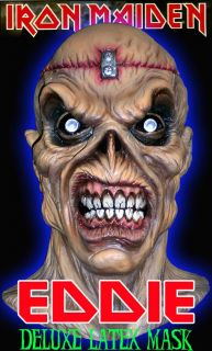 Iron Maiden Eddie Metal Head Deluxe Latex Mask New