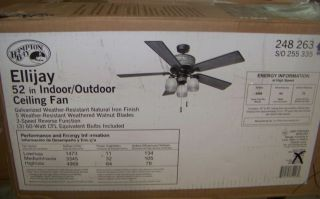 Hampton Bay Ellijay 52 in Ceiling Fan New But as Is
