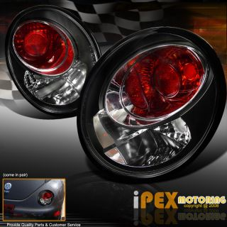 Volkswagen Beetle Black Euro Style Tail Lights Left Right Lamps