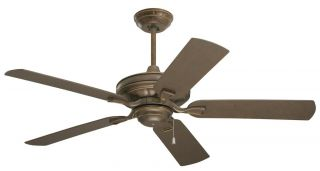 Emerson CF552GBZ 52 Outdoor Ceiling Fan Carrera Gilded Bronze & 5