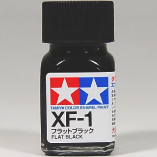 Tamiya Color Enamel XF 1 Flat Black Model Kit Paint 10ml New