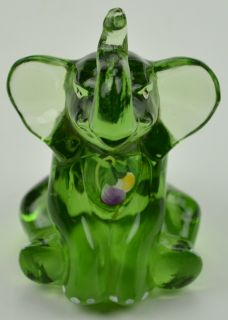 Hand Painted Emerald Green Elephant Figurine Lenox Collectible