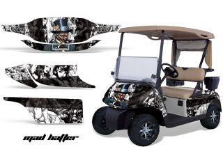 GRAPHIC KIT STICKER DECAL EZGO GAS GOLF CART ACCESSORIES PARTS MADHAT