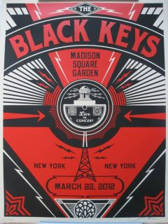 BLACK KEYS SHEPARD FAIREY POSTER MADISON SQUARE GARDEN MSG NY LIMITED