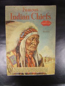 famous american indian chiefs ben ely author 17 portraits in color