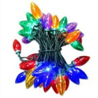 Everstar LED C9 Transparent Multi Color Christmas Tree Lights 105 ft