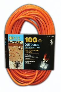 100 Extension Cord Heavy Duty 14 Gauge Orange 13A 3pin