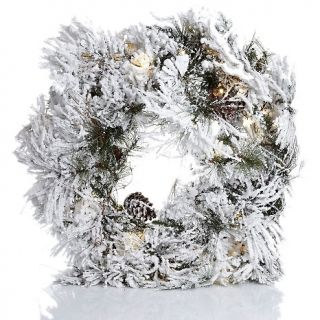 187 396 colin cowie colin cowie 30 flocked white wreath with lights