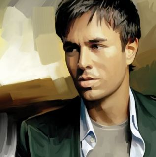 Enrique Iglesias Original Signed Canvas Art Painting