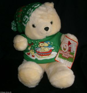 22 BIG VINTAGE 1988 KMART FAIRVIEW CHRISTMAS TEDDY BEAR STUFFED ANIMAL