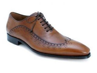 Mezlan Mens Fiano Wingtip Oxford Dress Shoes Tan