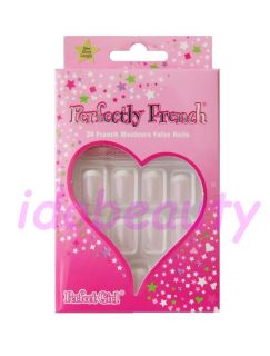 Perfect Girl Kids Girls False Nail French Pink Nails