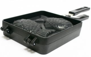 Taiyaki Pan, Fish shaped Cake Pan, Bung A Pang Maker, Snacks, Korean