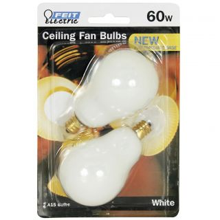 Feit Electric BP60A15C w CF 2 Count 60 Watt White Ceiling Fan Light