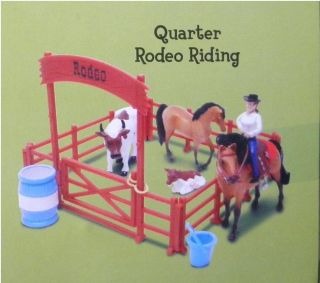 Grand Champions  Quarter Rodeo Riding Mini Horse Adventure Playset