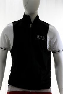 Hugo Boss Mens Modern Fit Pierick Pro Short Sleeve Black Shirt