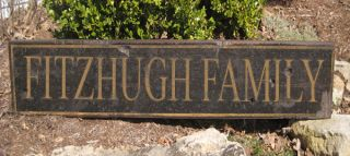 Fitzhugh Family Name Sign Personalized Lastname Painted Wooden Sign