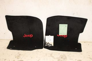 Lloyd Front Floor Mats 87 95 Jeep Wrangler YJ Black with Red Logo
