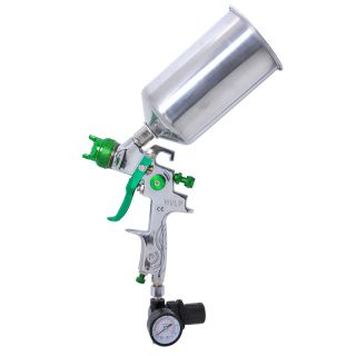 HVLP Spray Gun Auto Paint Metal Flake w Gauge Coat Primer Gravity Feed