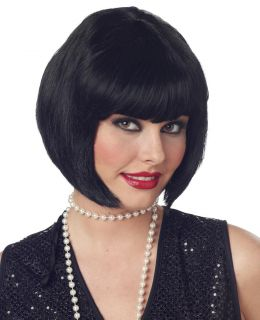 Flapper Roaring 20s Jazz Adult Costume Wig  Short Black 70098