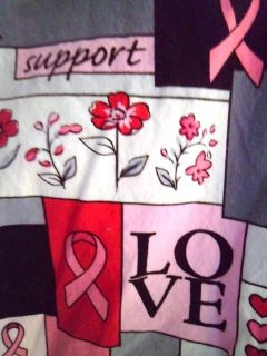 FAITH HOPE LOVE SUPPORT CARE Breast Cancer Awareness Pink Ribbon