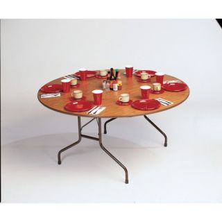 Melamine Top Round Folding Table 60 Round Black Granite Black Black