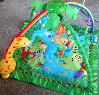 Fisher Price Rainforest Melodies and Lights Baby Gym Play Mat