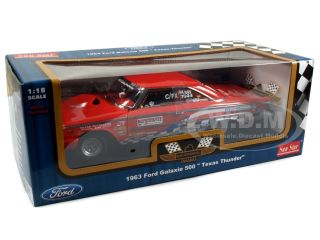 Brand new 118 scale diecast car model of 1963 Ford Galaxie 500 Texas