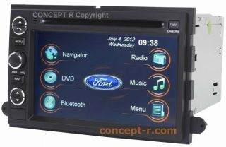 Ford Five Hundred Freestyle Focus GPS Navigation Radio Double 2 DIN In