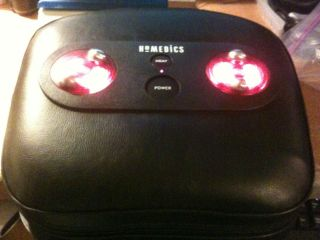 Homedics Black Vinyl Pillow Foot Massager with Heat