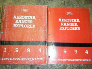 1994 FORD EXPLORER AEROSTAR RANGER ORIGINAL FACTORY SHOP MANUALS