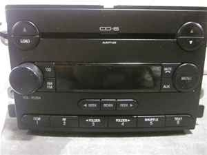 06 ford freestyle oem 6 disc cd  player radio lkq