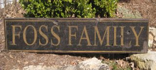 Foss Family Name Sign Personalized Lastname Painted Wooden Sign