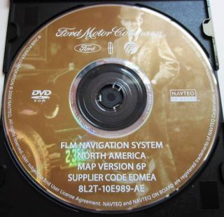 Genuine FLM Ford Lincoln Mercury Navigation DVD Map 6P Rel 2008 OEM US