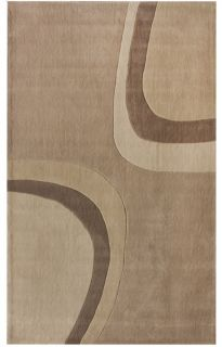 Contemporary Frans Area Rug 8 3 x 11 Ivory Hand Tufted Plush
