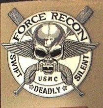 USMC Force Recon Fierce Skull Diver Patch Marine