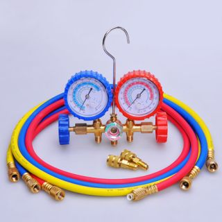 Manifold Gauges 60 Hoses A C Air HVAC Halogen Freon