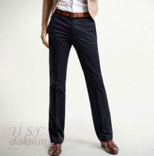 fit Casual Formal Straight Pants Smooth Trousers 2color 28 35 s1707