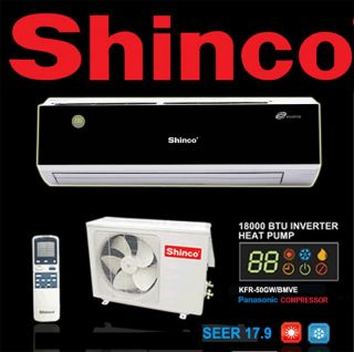 Quiet Shinco Ductless Split Air Conditioner Inverter Heat Pump
